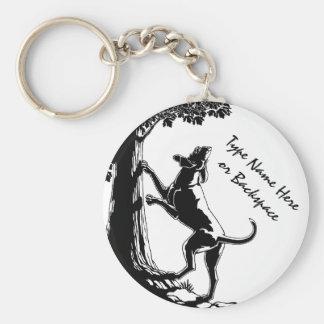Porte-clés Porte - clés d'art de chien de chasse de porte -