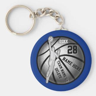 Porte-clés Porte - clés de basket-ball, 4 zones de texte et