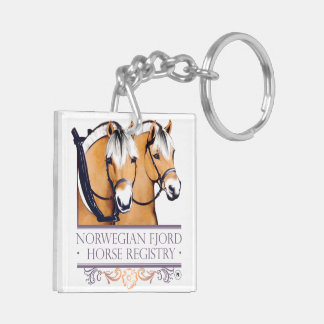 Porte-clés Porte - clés de carré de logo de NFHR