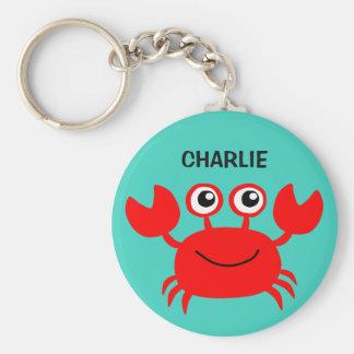 Porte-clés Porte - clés heureux de coutume de crabe