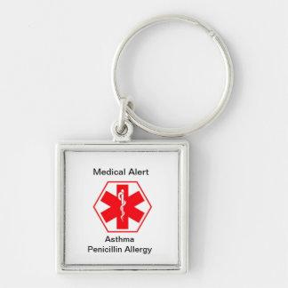Porte-clés Porte - clés médicaux d'alerte d'allergie
