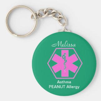 Porte-clés Porte - clés médicaux personnalisés d'alerte