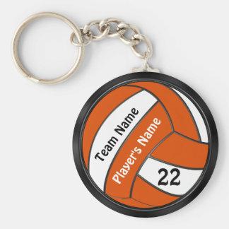 Porte-clés Porte - clés noirs et oranges personnalisés de