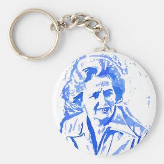 Porte-clés Portrait d'art de bruit de Margaret Thatcher