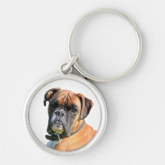 Porte-clés Portrait de photo de chien de boxeur beau