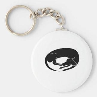 Porte-clés Pose de repos de chien
