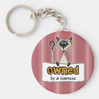 Porte-clés possédé par un siamois