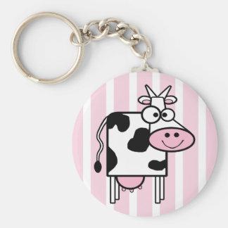 Porte-clés Poster de animal Girly de sourire de vache
