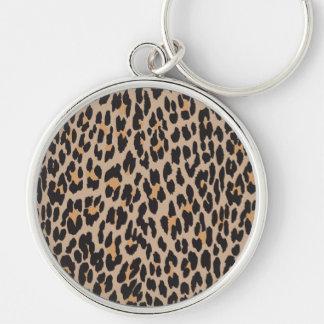 Porte-clés Poster de animal, léopard repéré - noir de Brown