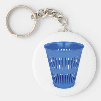 Porte-clés Poubelle bleue