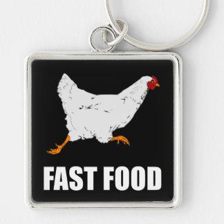 Porte-clés Poulet courant les aliments de préparation rapide