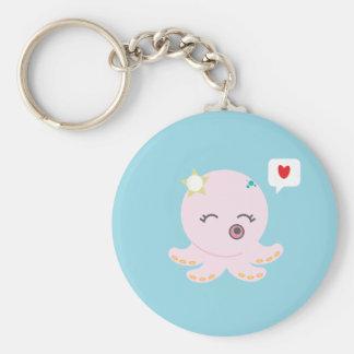 Porte-clés Poulpe rose de bébé