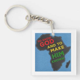 Porte-clés Pour connaître Dieu et lui faire Felted connu