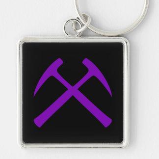 Porte-clés Pourpre et porte - clé de marteaux de roche croisé