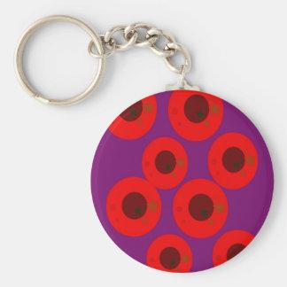Porte-clés Pourpre rouge sauvage de prunes ethniques de