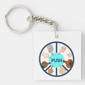 Porte-clés POUSSEZ le porte - clé