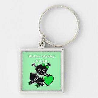Porte-clés Poussin de Derby de rouleau (vert)