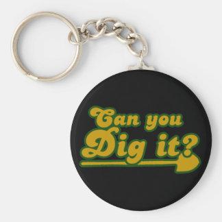 Porte-clés Pouvez vous le creuser rétro