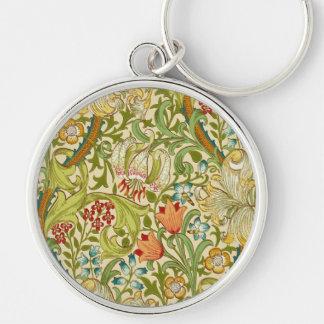 Porte-clés Pre-Raphaelite d'or de cru de lis de William