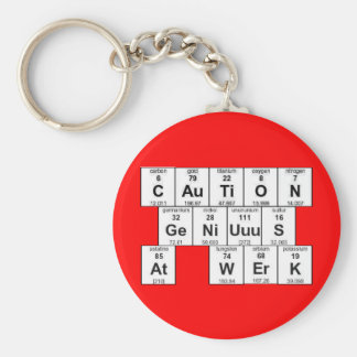 Porte-clés Précaution GeNiUuuS au porte - clé de WErK