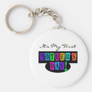 Porte-clés Premiers T-shirts et cadeau du jour de mère de cou