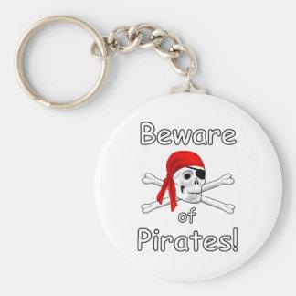 Porte-clés Prenez garde du porte - clé de pirates