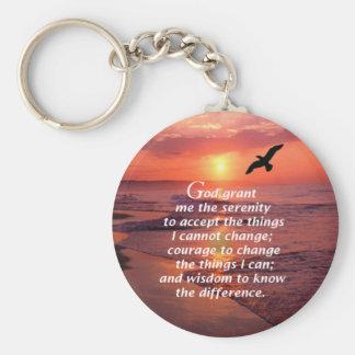 Porte-clés Prière 3 de sérénité