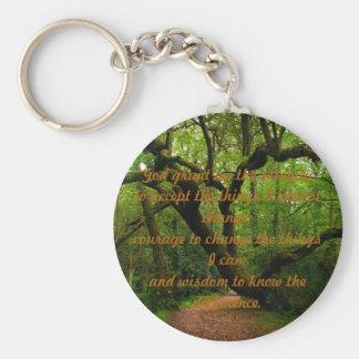 Porte-clés Prière de sérénité