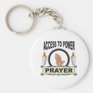 Porte-clés prière l'accès à la puissance