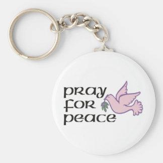 Porte-clés Priez pour la paix