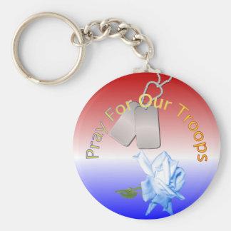 Porte-clés Priez pour notre porte - clé de troupes