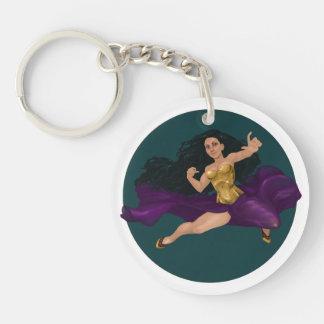 Porte-clés Princesse Lucy Corsetry Round Keychain de guerrier