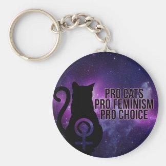 Porte-clés Pro chats, le pro féminisme, pro choix