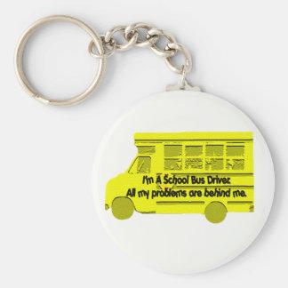 Porte-clés Problèmes de chauffeur de bus derrière moi