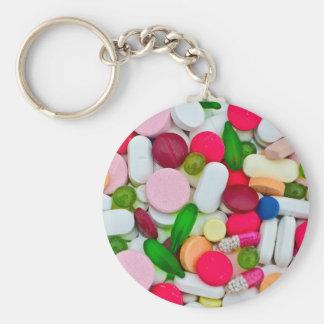 Porte-clés Produit coloré de coutume de pilules