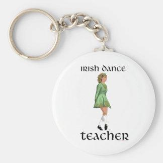 Porte-clés Professeur irlandais de danse d'étape - vert
