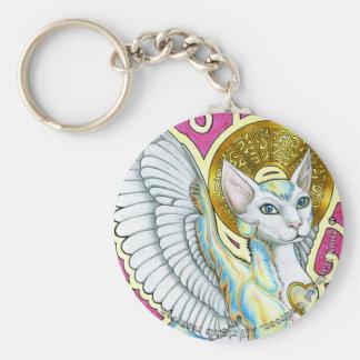 Porte-clés Promenade d'anges sur le porte - clé rond de 4