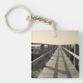 Porte-clés Promenade de plage dans la sépia