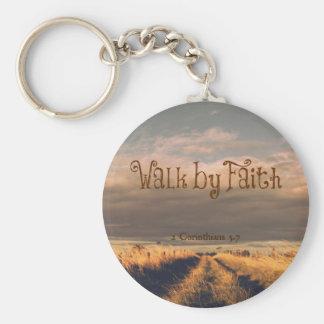Porte-clés Promenade par écriture sainte de vers de bible de