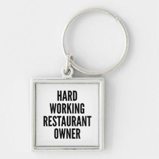 Porte-clés Propriétaire de restaurant travaillant dur