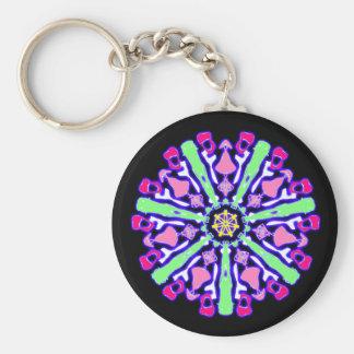 Porte-clés psychédélique coloré n°4