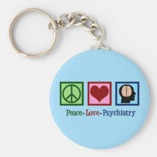 Porte-clés Psychiatrie d'amour de paix de psychiatre