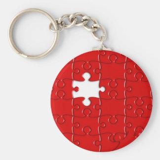 Porte-clés puzzle rouge