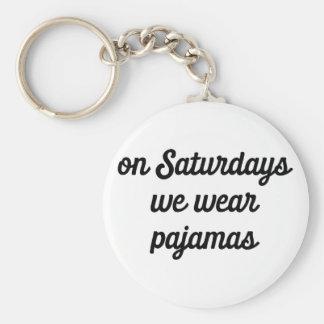 Porte-clés Pyjamas de samedi