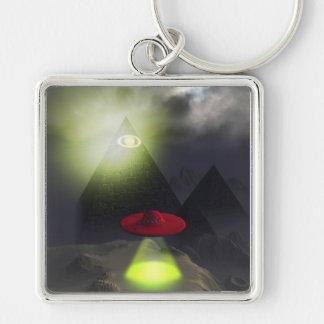Porte-clés Pyramide d'Illuminati et porte - clé d'UFO