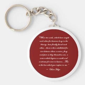 Porte-clés Quand deux âmes… Porte - clé de citation de Victor