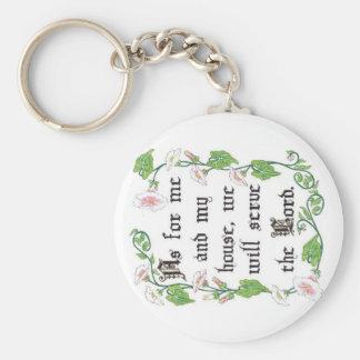 Porte-clés Quant à moi et à ma maison… Porte - clé