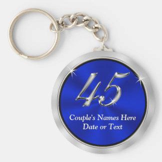 Porte-clés Quarante-cinquième faveurs personnalisées
