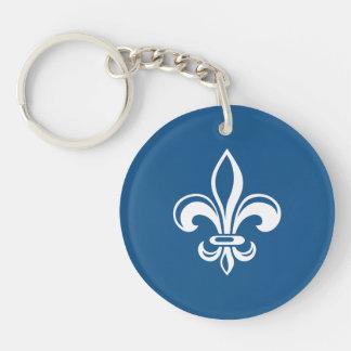 Porte-clés Québec France fleur de lys Français - VOS COULEURS