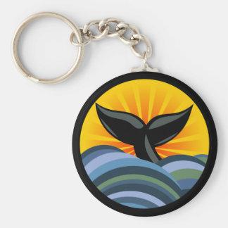 Porte-clés Queue de baleine et porte - clé de vagues